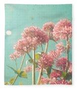 Pink Milkweed Fleece Blanket