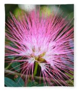 Pink Mimosa Flower Fleece Blanket