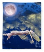 Pink Moon Fleece Blanket