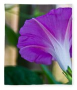 Pink Morning Glory Fleece Blanket