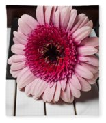 Pink Mum On Piano Keys Fleece Blanket