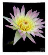 Pink N Yellow Water Lily Too Fleece Blanket
