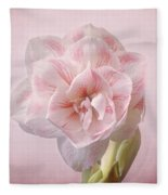 Pink Nymph Amaryllis Fleece Blanket