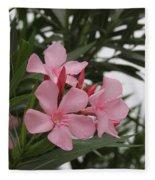 Pink Oleander 4 Fleece Blanket