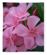 Pink Oleander 6 Fleece Blanket