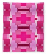 Pink On Pink 2 Fleece Blanket