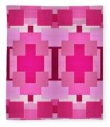 Pink On Pink Panorama 4 Fleece Blanket