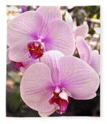 Pink Orchid Duo Fleece Blanket