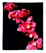 Pink Orchid Fleece Blanket