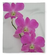 Pink Orchids 1 Fleece Blanket