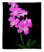 Pink Orchids 9 Fleece Blanket