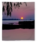 Pink Paradise Pond Fleece Blanket