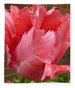 Pink Parrot Tulip Fleece Blanket