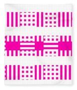 Pink Patterns Fleece Blanket