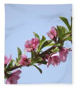 Pink Peach Blossoms Fleece Blanket