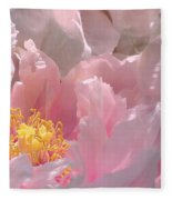 Pink Peonies 2  Fleece Blanket