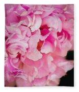 Pink Peony Fleece Blanket