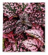 Pink - Plant - Petals Fleece Blanket