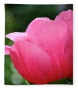 Pink Petals Green Diamonds Fleece Blanket