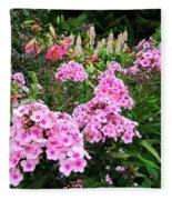 Pink Phlox Fleece Blanket