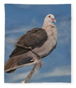 Pink Pigeon Fleece Blanket