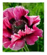 Pink Poppy Fleece Blanket
