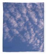 Pink Puffy Clouds Fleece Blanket