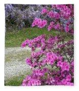 Pink Purple Mississippi Blooms Fleece Blanket
