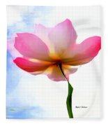 Pink  Fleece Blanket by Rafael Salazar
