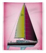 Pink Retru Fleece Blanket