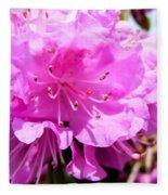 Pink Rhododendrons Fleece Blanket