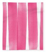 Pink Ribbons- Colorful Abstract Watercolor Painting Fleece Blanket