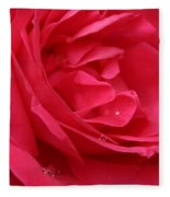 Pink Rose 03 Fleece Blanket