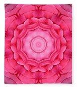 Pink Rose Bouquet Kaleidoscope Fleece Blanket