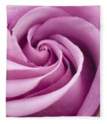 Pink Rose Folded To Perfection Fleece Blanket
