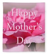 Pink Rose Mother's Day Card Fleece Blanket