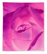 Pink Rose - Photopower 1790 Fleece Blanket