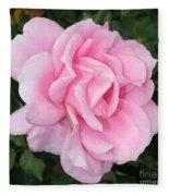 Pink Rose Square Fleece Blanket