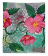 Pink Roses Fleece Blanket