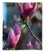 Pink Saucer Magnolia II Fleece Blanket