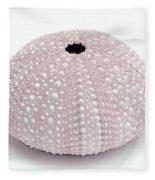 Pink Sea Urchin White Fleece Blanket
