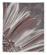 Pink Silver Fleece Blanket