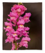 Pink Snapdragon Fleece Blanket
