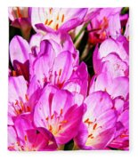 Pink Summer Blossoms Fleece Blanket