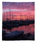 Pink Summer Sunset  Fleece Blanket
