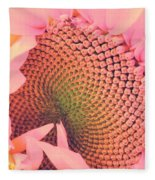 Pink Sunflower Fleece Blanket