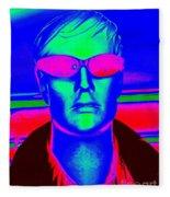 Pink Sunglasses Fleece Blanket