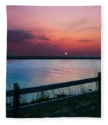 Pink Sunset Fleece Blanket