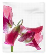 Pink Sweet Pea 2 Fleece Blanket