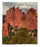 Pink Towers Of The Gods Fleece Blanket